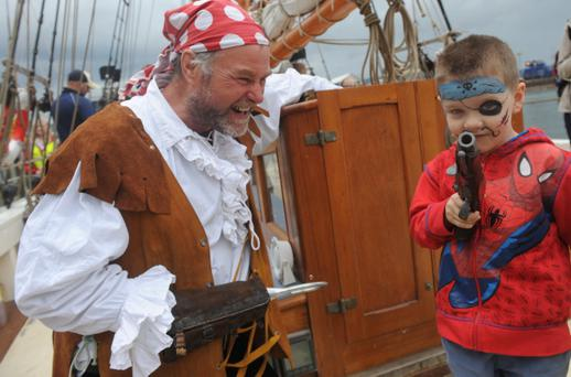 Keith Mounfield and Caden McKinney during The 2013 Belfast Titanic Maritime Festival