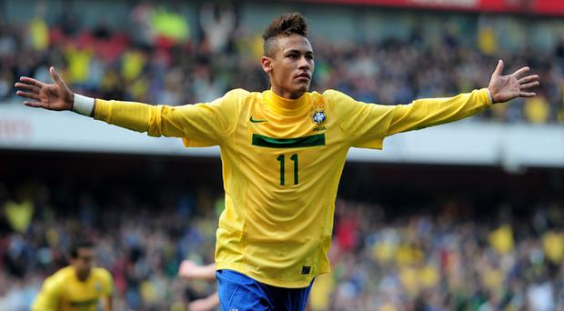 729b635264a Neymar made his farewell appearance in the Brazilian league on Sunday night