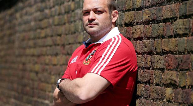 Rory Best at the British & Irish Lions Press Conference, Royal Garden Hotel, Kensington, London on Monday