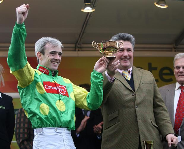 Jockey Ruby Walsh (left) and Trainer Paul Nicholls have parted company