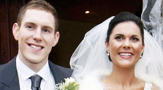 Michaela McAreavey and her husband John pictured on their wedding day (Irish News/PA)