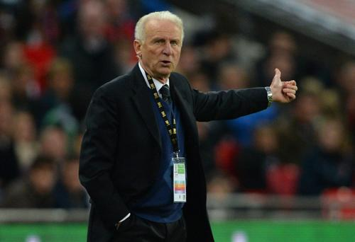 Giovanni Trapattoni was delighted with the performance of the Republic's young stars