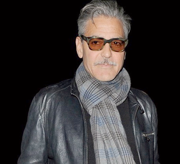 INTERNET OUT George Clooney with moustache