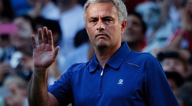 Jose Mourinho waves goodbye to Real Madrid after his last game
