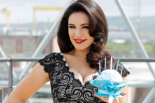 Kelly Brook at Victoria Square for the 5th birthday bash. Picture by Kelvin Boyes / Press Eye.