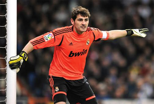Real Madrid goalkeeper Iker Casillas