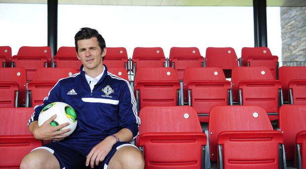 Joey Barton attends the Dub in Belfast for his coaching badges on Tuesday