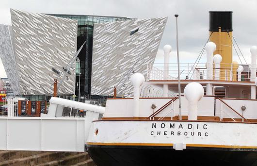The SS Nomadic was commissioned and built by the White Star Line in 1910 at the Harland and Wolf shipyard to ferry passengers from Cherbourg harbour in France to the Titanic. The vessel recently returned to Belfast where is was fully refurbished.