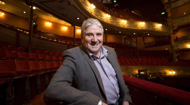 John Linehan who is better known as his character May McFettridge pictured at the Grand Opera House in Belfast. Picture By Mark McCormick 24/05/13