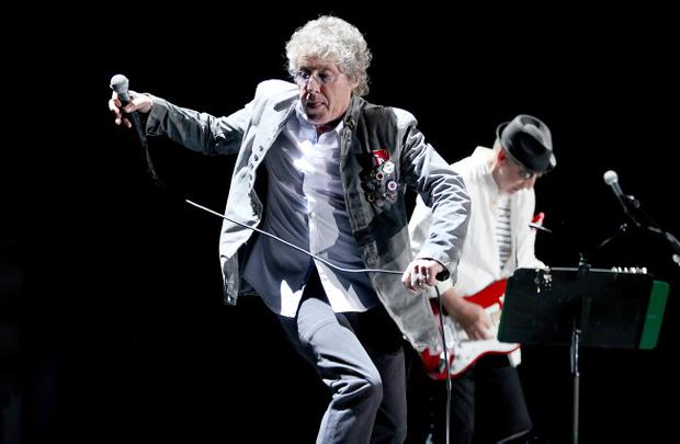 Roger Daltrey and Pete Townsend of The Who performing in the Odyssey Arena, Belfast last night