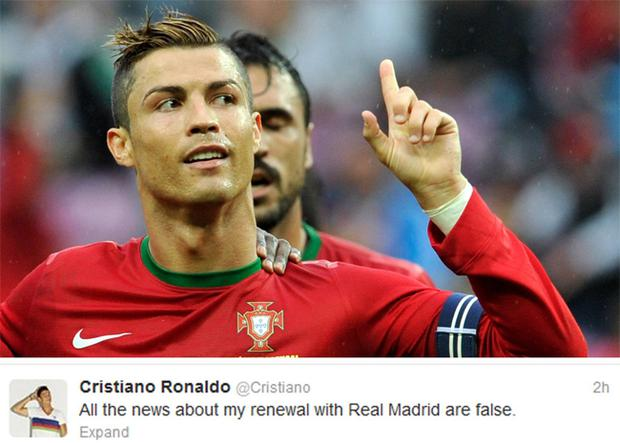 Cristiano Ronaldo has denied news that he has signed a new deal with Real Madrid
