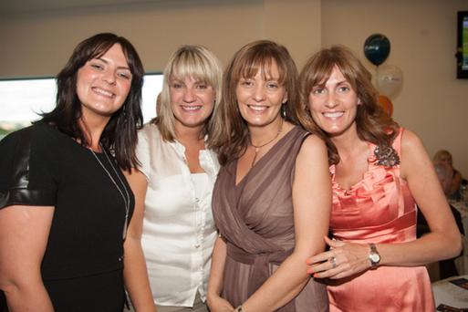 Emma Douglas, Jennifer McKenna, Mary Harmon and Elaine Douglas at the tenth annual Barclay Communications' Race Evening