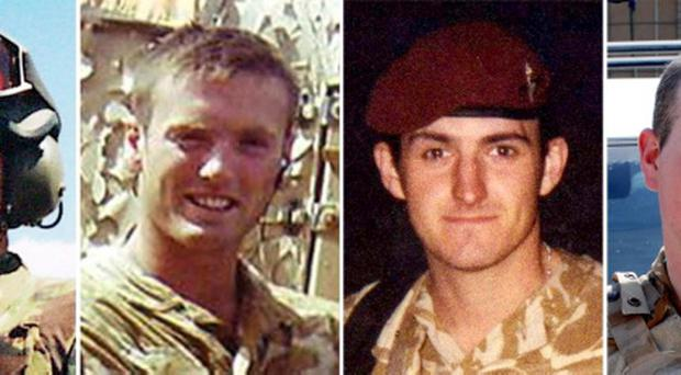 Corporal Stephen Allbutt, Private Phillip Hewett, Private Lee Ellis and Lance Corporal Kirk Redpath - as the families of the British soldiers killed fighting in Iraq can bring damages claims against the Government, the Supreme Court ruled today