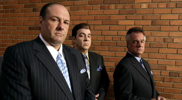 James Gandolfini, left, Steven Van Zandt and Tony Sirico, right, were members of the cast of the HBO mob drama The Sopranos