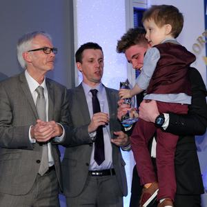 Press Eye - Belfast - Northern Ireland - Saturday 14th June 2013 - Sunday Life Spirit of Northern Ireland Awards. Overall Spirit of NI Winner Wee Oscar Knox Presented by, Martin Breen, Tony McGinn and Britain's Got Talent Finalist Jordan O'Keefe