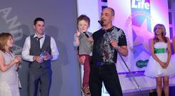 Overall Spirit of NI Winner Wee Oscar Knox Presented by, Martin Breen, Tony McGinn and Britain's Got Talent Finalist Jordan O'Keefe