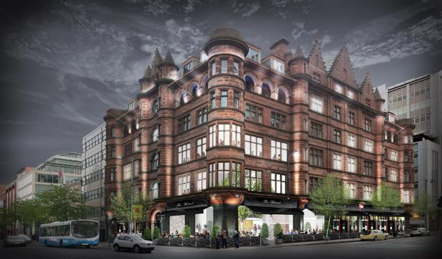 An artist's impression of the new hotel at Belfast's former Scottish Mutual building