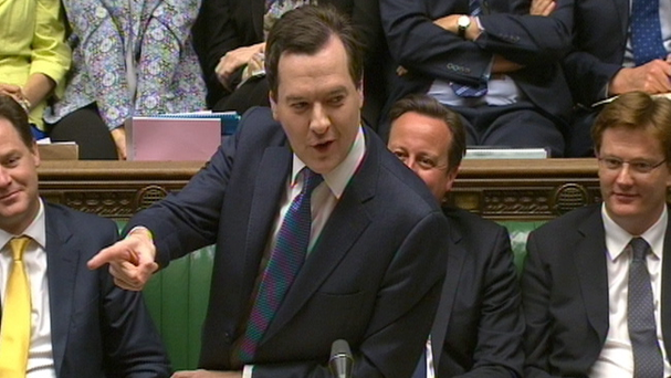 Chancellor George Osborne speaking in the House of Commons in London about his final spending plans before the country goes to the polls in 2015