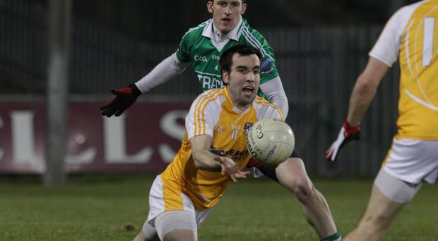 Antrim's Kevin Niblock maymiss the team's vital match against Louth on Saturday