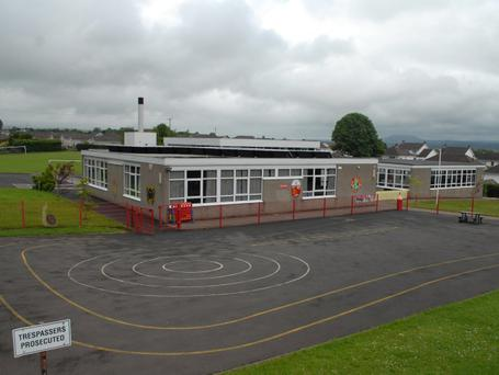 A five-year-old boy was savaged by a dog at Carniny Primary School on the outskirts of Ballymena