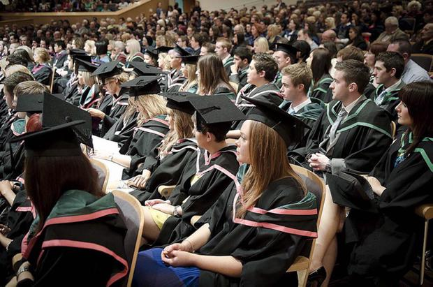 Graduates from the University of Ulster at the Waterfront Hall