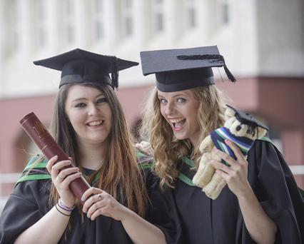 Harriet McCullough from Banbridge and Nicole Sloan from Carrickfergus both graduate today with BSc Hons Psychology