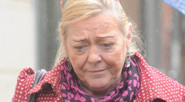 Briege Meehan at Belfast Crown Court today where she was due to be sentenced