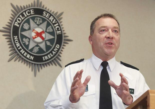 Chief Constable Matt Baggott speaking at PSNI headquarters Knock after the report was released