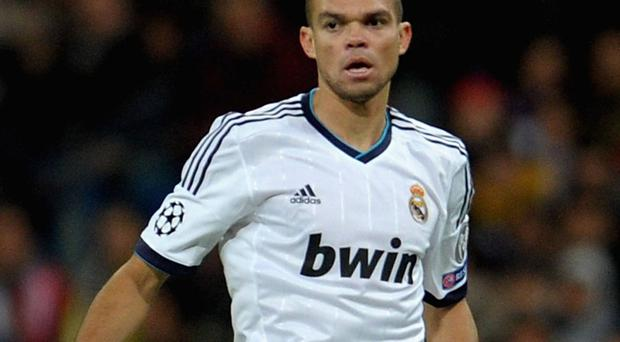 Pepe was admired by Pellegrini when he coached Real Madrid