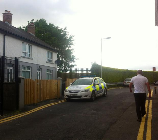Police were called to the home in Trinity Terrace, in the Tonagh area of the town, at around 2.20am on Thursday morning