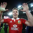 British & Irish Lions Tour To Australia 2013 3rd Test, ANZ Stadium, Sydney, Australia 6/7/2013 Quantas Wallabies vs British & Irish Lions Lion's Tommy Bowe celebrates after the game Mandatory Credit ©INPHO/Dan Sheridan