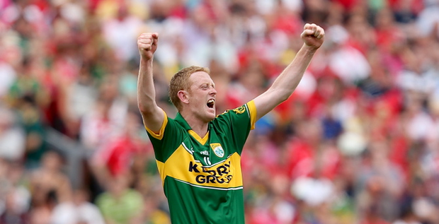 Kerry's Colm Cooper celebrates at the final whistle