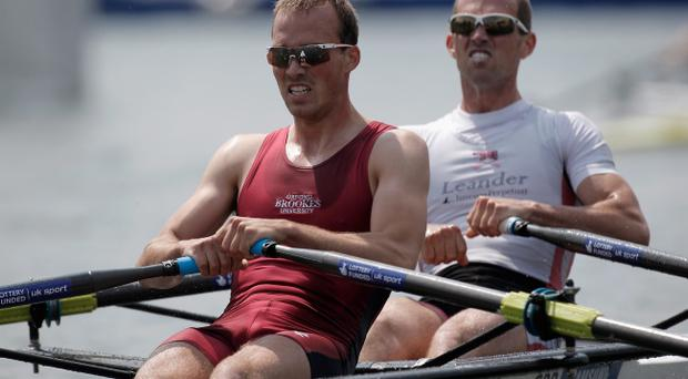 Richard Chambers and Peter Chambers of Great Britain (Photo by Harry Engels/Getty Images)
