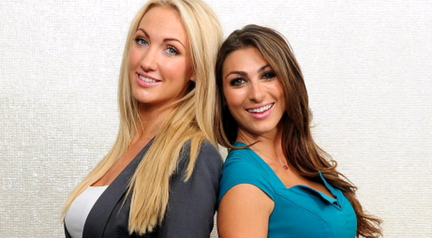 Apprentice finalists Luisa Zissman (right) and Derry's Leah Totton. Photo Ian West/PA Wire
