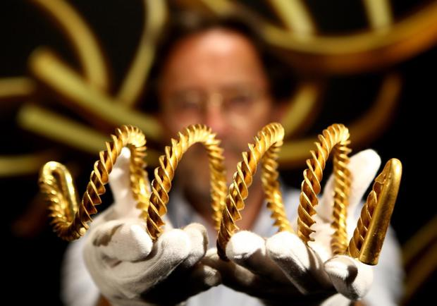 The 3,000 year old gold torc has been unveiled to the public at the Ulster Museum