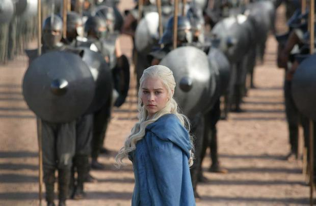 HBO's Game of Thrones Season Three 3. Emilia Clarke as Daenerys Targaryen- photo Keith Bernstein/HBO