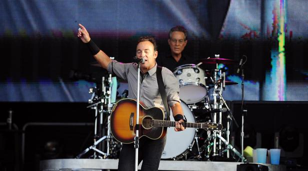 Bruce Springsteen in concert at the Kings Hall in Belfast. 20/07/2013
