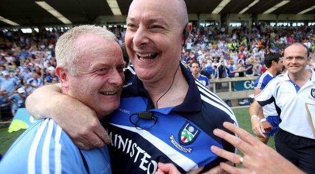 Monaghan manager Malachy O'Rourke celebrates after the game