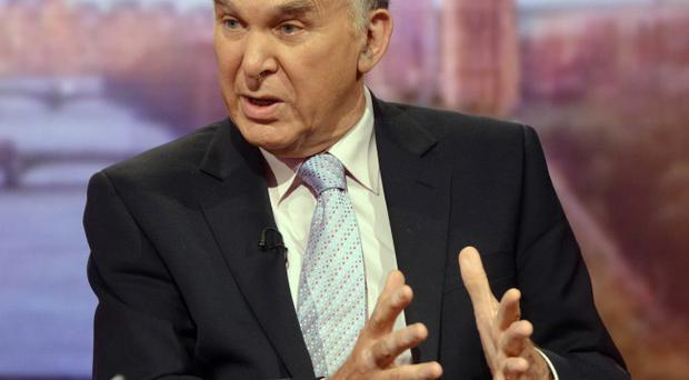 In this handout image provided by the BBC, Vince Cable MP, the Secretary of State for Business, Innovation and Skills appears on the