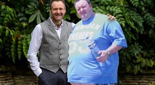 Thomas McIntyre from Larne in Northern Ireland, at a photocall at the Ritz Hotel, in central London, after being named as Slimming World Man of the Year 2013 after losing 17 st 8 lbs