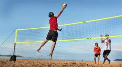 WORLD POLICE AND FIRE GAMES to hold Volley-ball games at East Strand beach in Portrush, Co-Antrim. Pic: Margaret McLaughlin