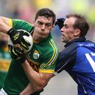 Kerry's David Moran and Martin Reilly of Cavan