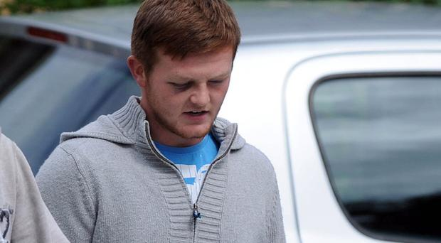 Christopher McLean leaves Dungannon Court on bail, charged with the manslaughter of Darren McBrearty who died on Tuesday in hospital after an altercation outside a bar in Omagh, County Tyrone on Sunday. Pic Colm Lenaghan/ Pacemaker