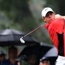 Rory McIlroy of hits a tee shot on the 13th hole during the second round of the 95th PGA Championship on August 9, 2013 in Rochester, New York