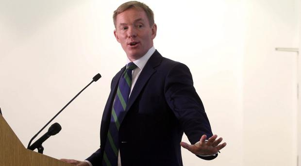 Labour Shadow Immigration Minister Chris Bryant makes a speech and holds a Q&A at Bevin Hall in London as he has been forced to back down over criticism of high street store chains Tesco and Next for using foreign workers