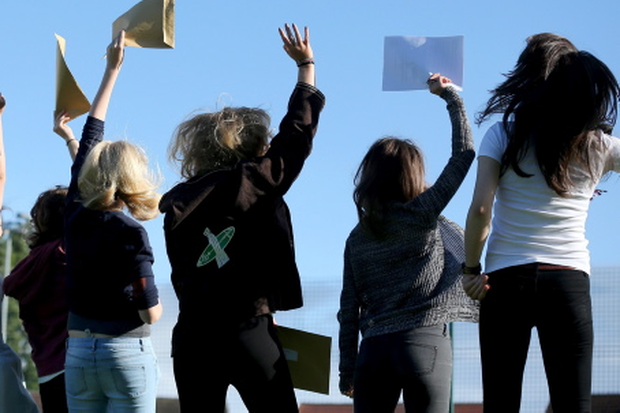 Some of this year's crop of A-level students celebrating their results
