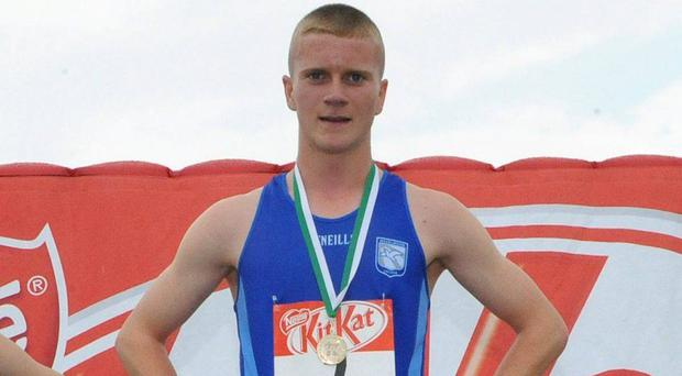 Former schoolboy champion Adam Ingram after winning the Irish Junior Boys 800m in 2008 in Co Offaly