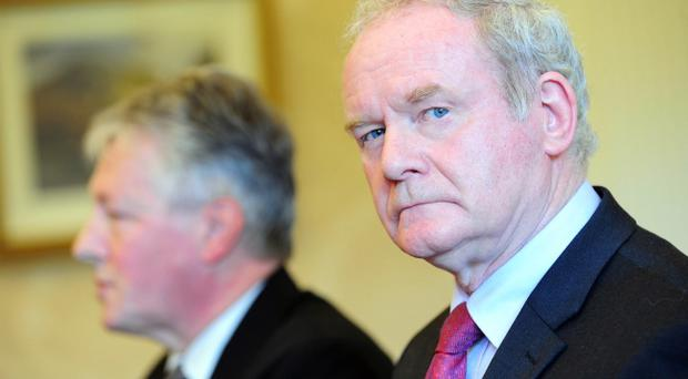 Martin McGuinness (right) was making no comment yesterday