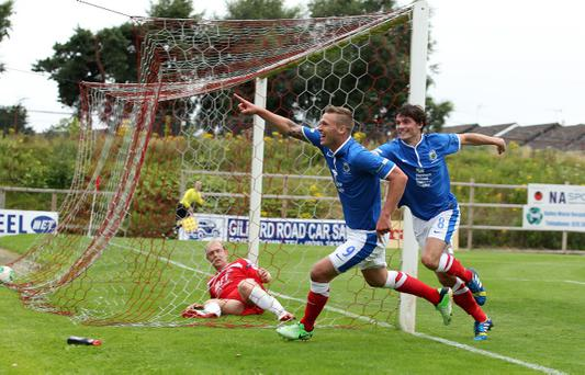 Peter Thompson is hoping to find the net against Cliftonville