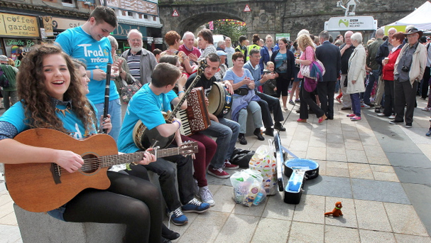Friday Fleadh Cheoil scenes on the streets. Derry hosts Fleadh Cheoil na hEireann, the first time in the traditional music festival's history that it has travelled to the North of Ireland. Picture Margaret McLaughlin © please by-line 16-8-13
